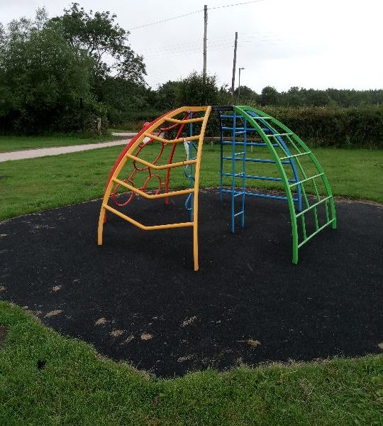 Picture of climbing frame at Findern play area